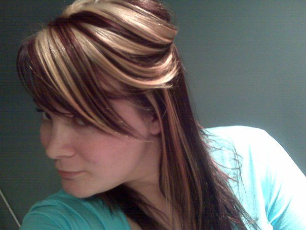 Blonde And Burgundy Hair 86