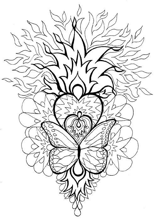 Mandala Heart Butterfly