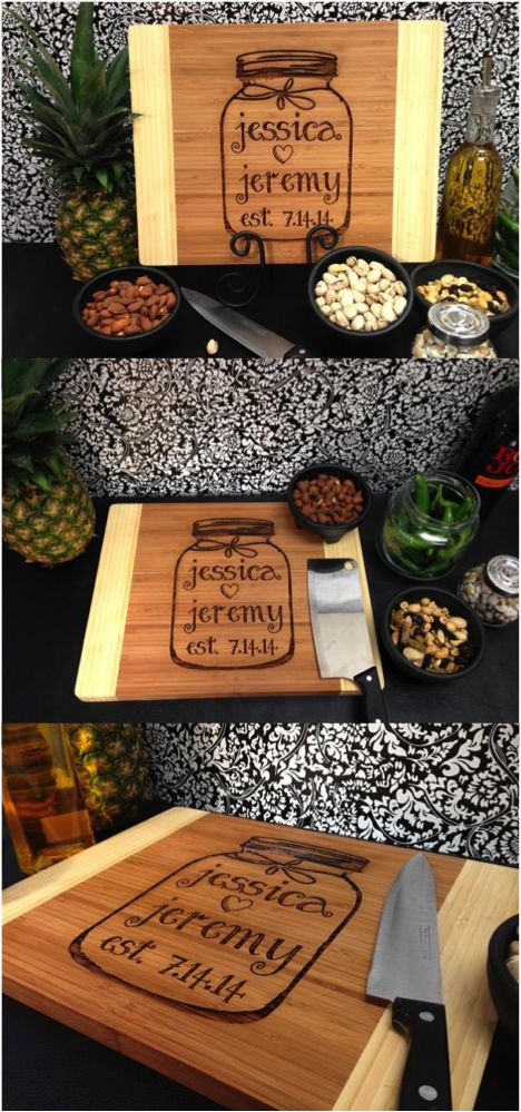 This one of a kind cutting board is custom engraved on your choice of wood. | Made on Hatch.co
