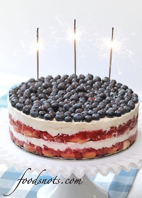 Red, White, and Blue Berry Trifle | recipes | Pinterest