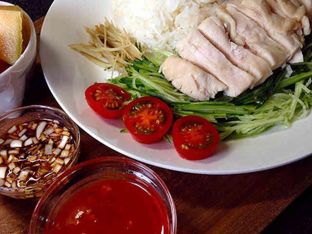 炊飯器で簡単★海南チキンライスの画像
