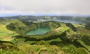 The volcanic, yet green, landscape of the Azores on show at Sete Cidades, São Miguel