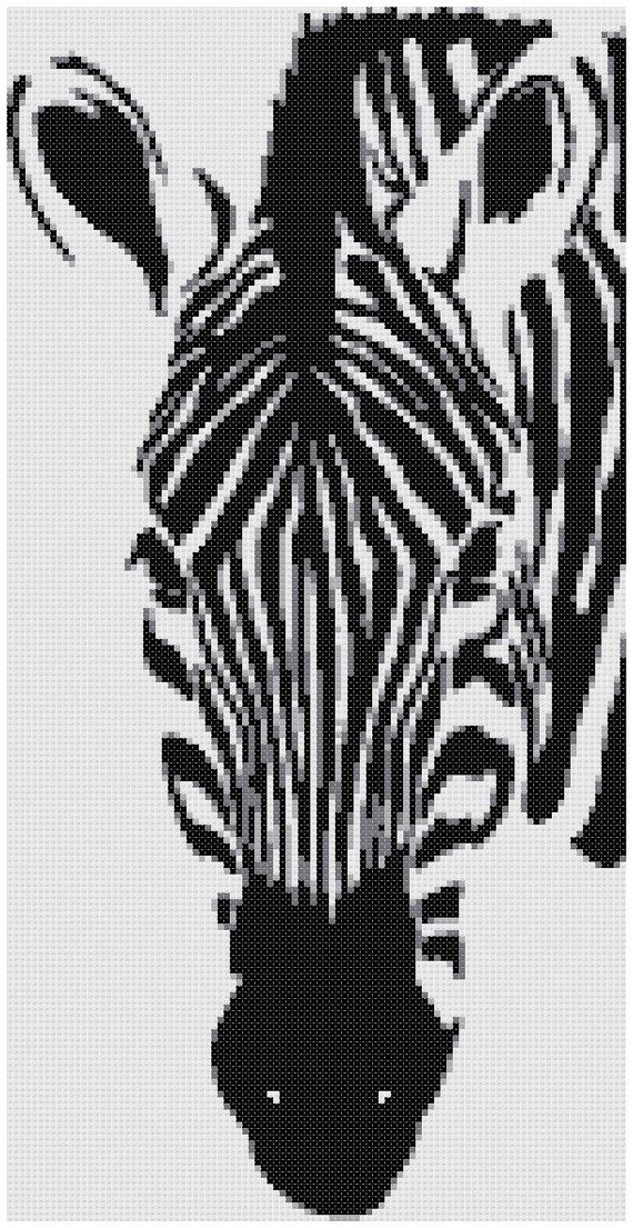 Zebra II a Counted Cross Stitch Pattern por WooHooCrossStitch