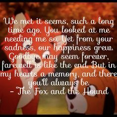 cute fox and the hound quotes - Google Search