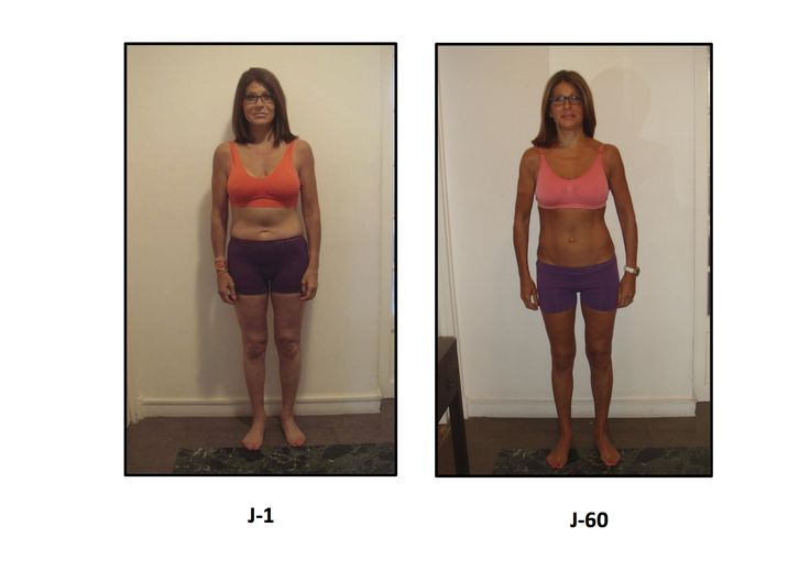 Friend Carine Barrel Before and 2 months After pictures with NuSkin's TR90 weight loss program