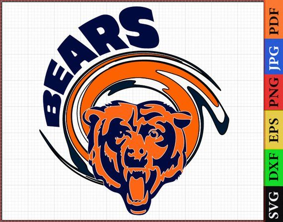Chicago Bears Svg Files Chicago Bears Nfl Printable Nfl Clipart Football Logos Svg Dxf Vector Layered File Chicago Bears Logo Bears Football Football Logo