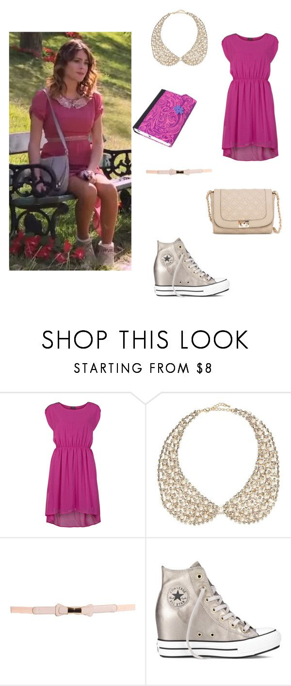 """""""vilu"""" by maria-look ❤ liked on Polyvore featuring VILA, River Island, Boohoo, Converse, MANGO, women's clothing, women, female, woman and misses"""