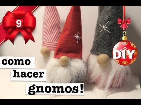 COMO HACER GNOMOS DE NAVIDAD! 3 MANERAS! SUPER FACIL! - YouTube