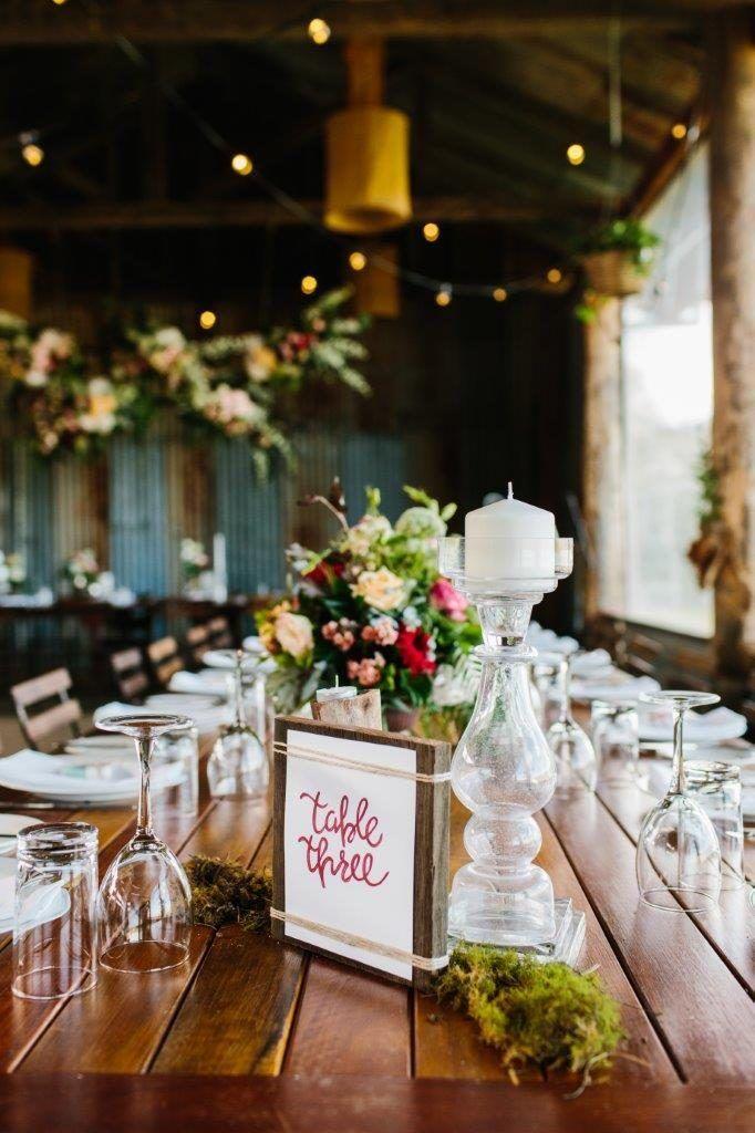 Wooden Block With Paper & Twine Table Numbers - Lovebird Weddings, Noosa Australia