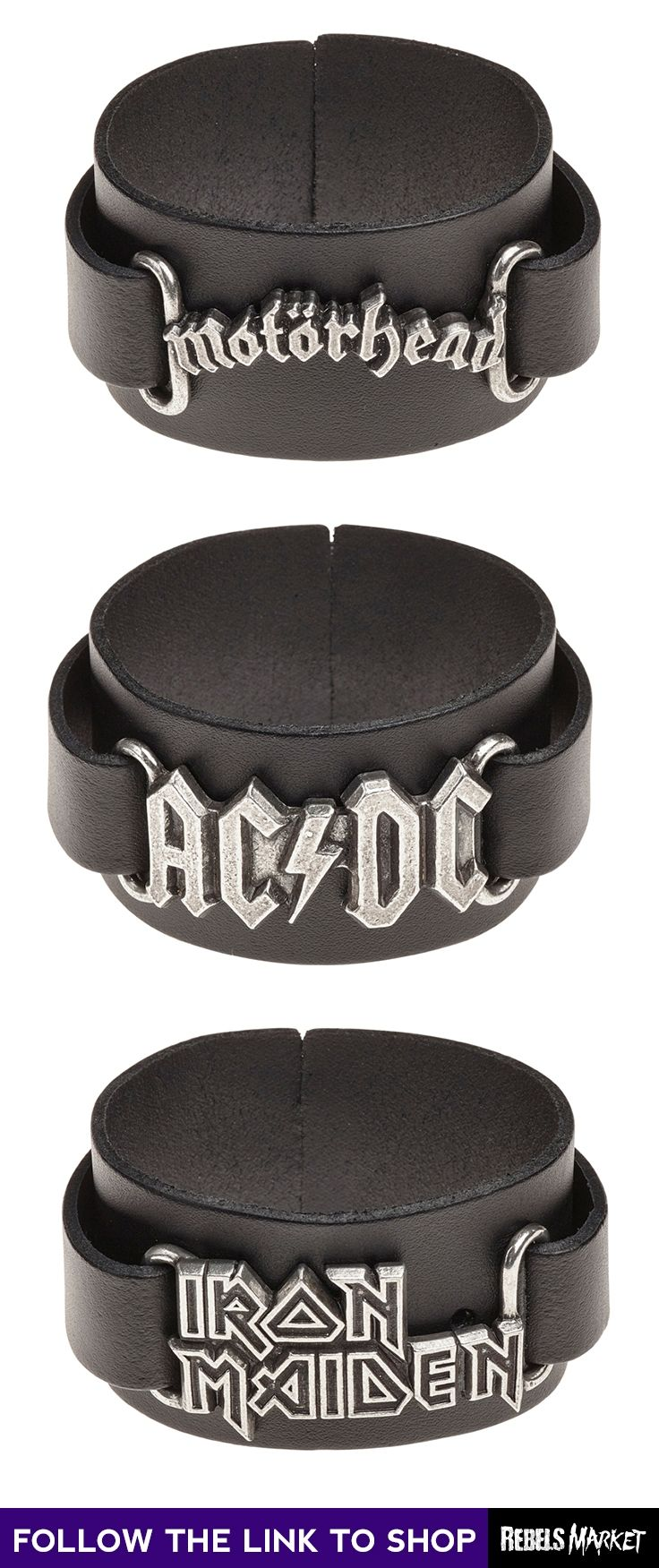 Shop gothic bands bracelets online at RebelsMarket.