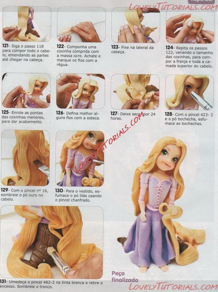 МК как слепить волосы/парик для куклы -How to Make a Doll Wig / Doll Hair - Страница 5 - Мастер-классы по украшению тортов Cake Decorating Tutorials (How To's) Tortas Paso a Paso