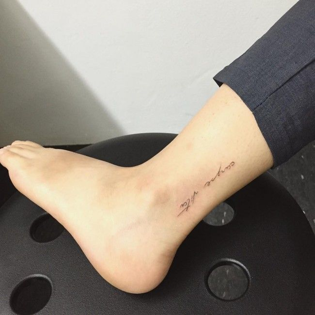 120 Dainty Ankle Tattoos For Girls nice