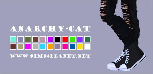 Anarchy-Cat: Madlen Neroni Sneakers recolored • Sims 4 Downloads