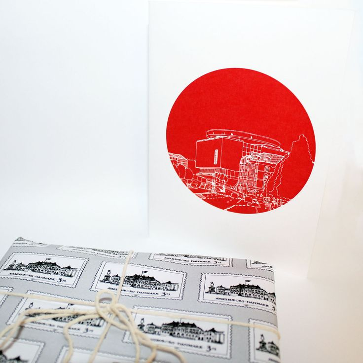 Denmark / Wrapping Paper & Greeting Card