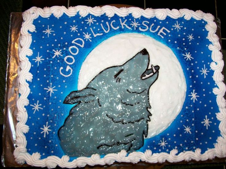 Wolf Pack Birthday Cake