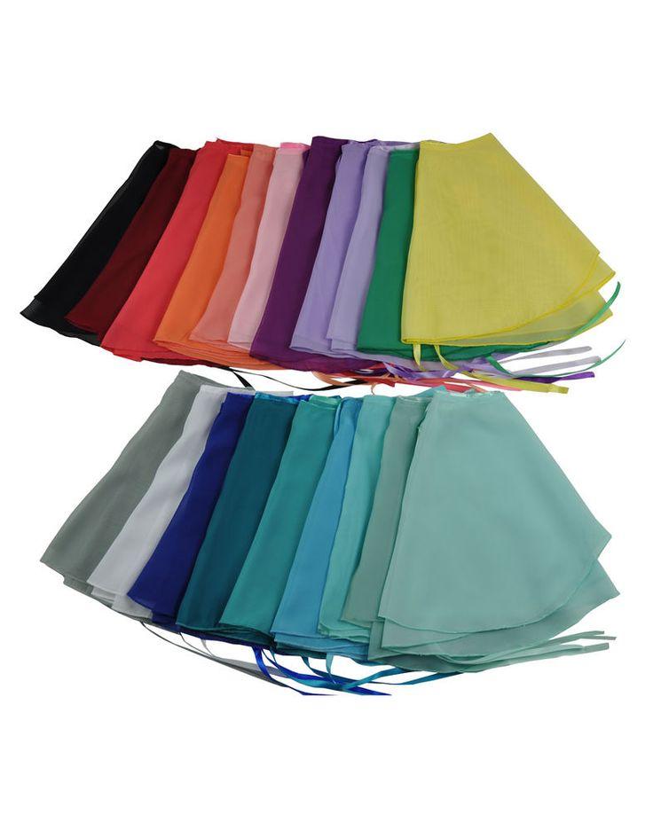 Multicolor Ballerina Ballet Dancer Short Wrap Skirt Chiffon Dance Adult or Child #NawtyFox