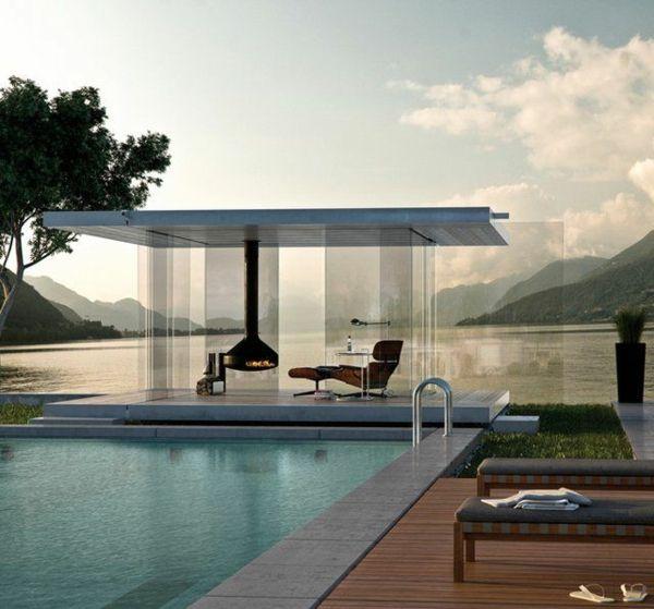 moderne gartenpavillons glaspavillon pavillion wasserdicht gartengestaltung pinterest art. Black Bedroom Furniture Sets. Home Design Ideas