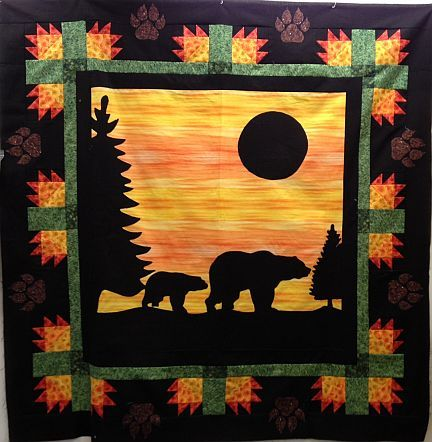 bear paw quilt applique | Evening Stroll Kit