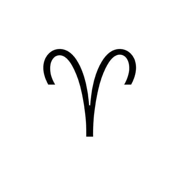 Aries Symbol. Aries is the first sign of the zodiac, ruled by Mars.