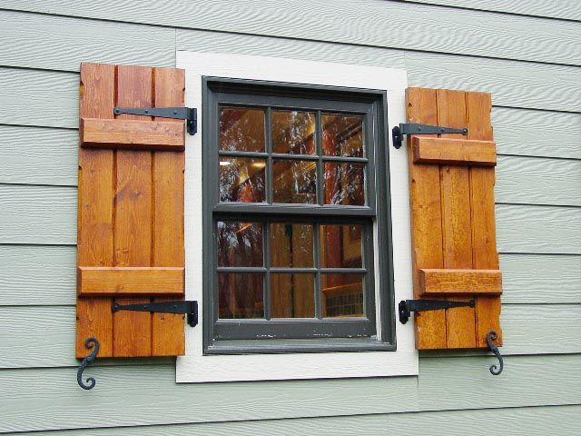 Exterior Wood Shutters | Decorative, Provide Privacy U0026 Safety Part 62