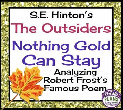 """language use in nothing gold can stay The poet has used lots of figurative and pastoral language to create  great  analysis of """"nothing gold can stay,"""" but i do not see the use of the."""