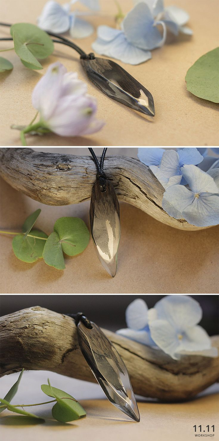 Wooden Pendant with Epoxy Resin, Necklace | Кулон из дерева с эпоксидной смолой, деревянный кулон | etsy.com/shop/ElevenElevenRU | vk.com/eleveneleven | instagram.com/workshop.11.11