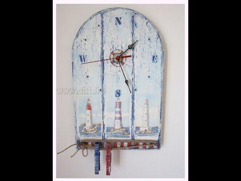 Decoupage tutorial - DIY. Shabby chic. How to make a clock. Handmade craft idea. - YouTube