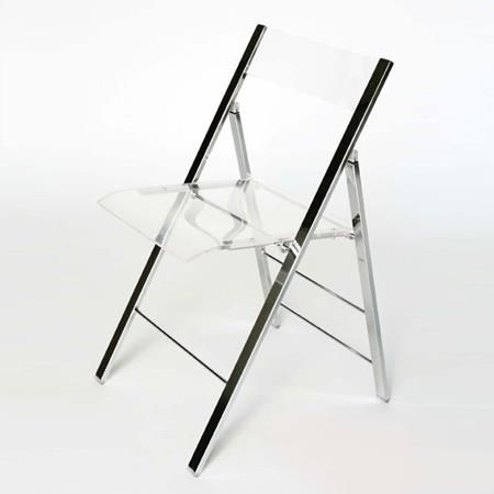 Willoughby Acrylic Foldable Chair Foldable Chairs Chair