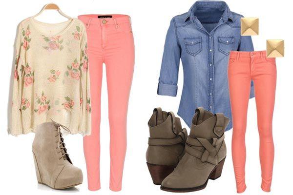 Cómo combinar el color coral en tu ropa