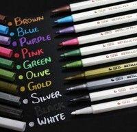 10pcs/lot Album Photo Metallic Multi Color Marker Pens DIY Arts & Crafts 10 Color Gel Pens for DIY Photo Album (Size: Pack of 10)