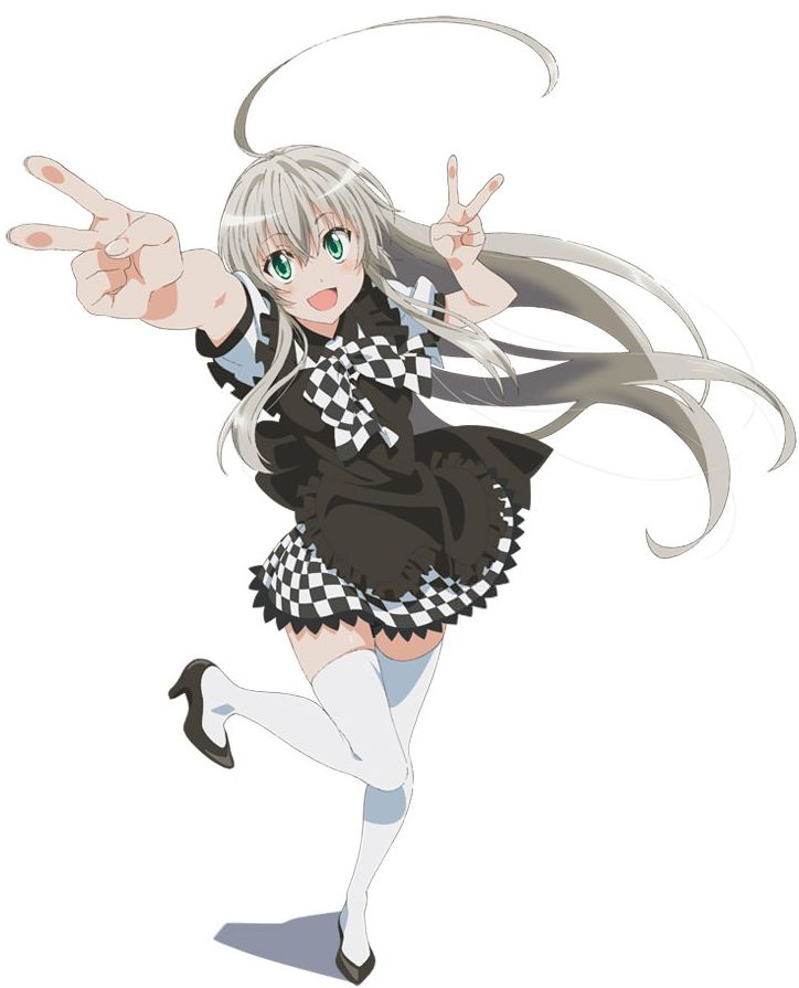 Today the official website for Nyaruko-san: Another Crawling Chaos, also known as Haiyore! Nyaruko-san was updated to reveal the first key visual for the second season of the series as well as what the second season will be called. The visual can be seen to the right (click the image for a larger version) and the second anime season will be called Haiyore! Nyaruko-san W.