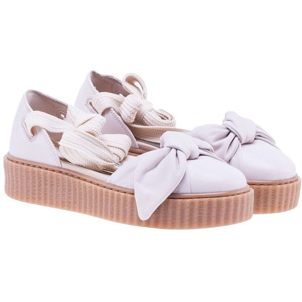 Puma Fenty by Rihanna Lace Up Sandals (€130) ❤ liked on Polyvore featuring shoes, sandals, womenshoes, laced shoes, puma sandals, puma footwear, lace-up sandals and laced up shoes