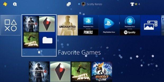 """PS4-Update 4.00: Blick auf die neue Ordner-Funktion-  Die Playstation 4 erhält heute mit dem Update 4.00 eine Reihe von neuen Funktionen. Darunter: HDR und Ordner.  Sony wird am Dienstag mit der Auslieferung eines neuen, großen Updates beginnen, welches unter dem Codenamen """"Shingen"""" entwickelt wurde. Mit dem Systemsoftware-Update 4.00 erhält die Playstation 4 eine Reihe von Neuerungen und Verbesserungen."""
