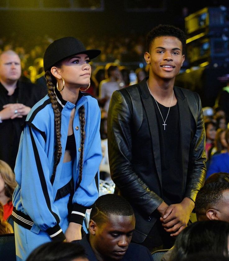 Zendaya and Trevor Jackson at the 2014 BET Awards in Los Angeles, CA (June 29th)