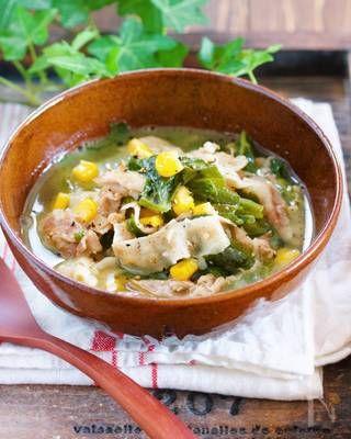 バターでコクうま♪『豚バラ白菜の味噌バタコーンスープ』 by Yuu   レシピサイト「Nadia   ナディア」プロの料理を無料で検索