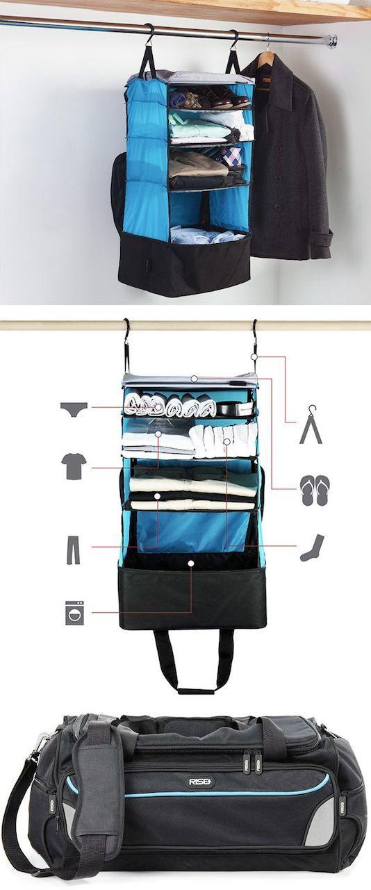 # 55.  Prateleiras compactáveis (só puxá-lo para fora de seu saco e pendurá-lo!) - 55 Genius Invenções de armazenamento que irá simplificar a sua vida