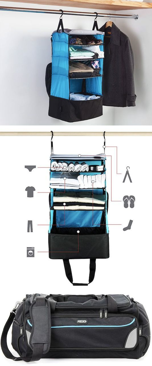 #55. Packable Shelves (just pull it out of your bag and hang it up!) -- 55 Genius Storage Inventions That Will Simplify Your Life