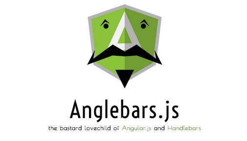 Anglebars. js is half way in between Angular.js and Handlebars.js. It's like a normal templating engine, but with added magic.
