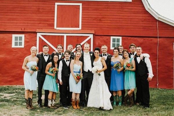 Lace and Burlap Wedding in North Dakota
