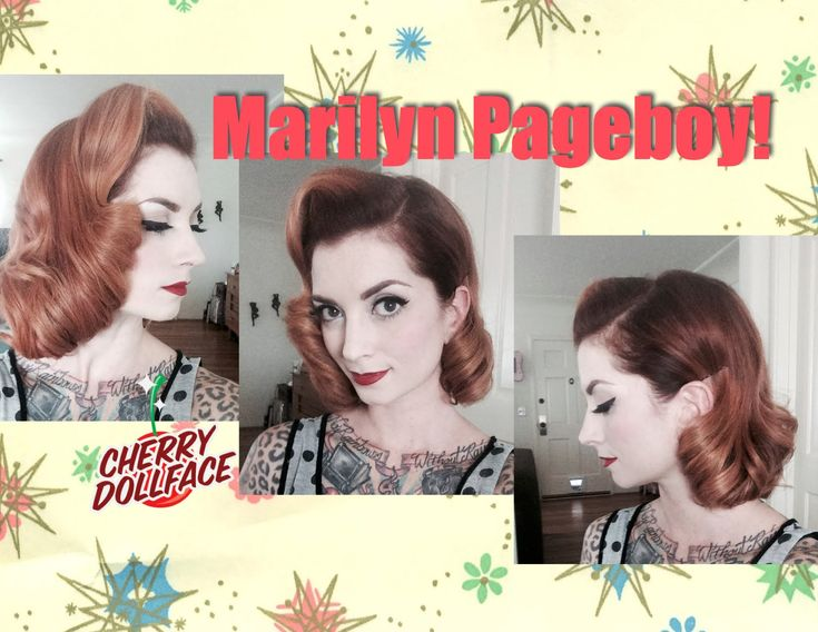 Short Vintage Hair Tutorial: Marilyn Monroe Inspired Page Boy! by CHERRY...