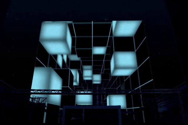 THIS IS MY LAST PRODUCTION OF VIDEO MAPPING 3D FOR A GREAT SUMMER DISCOTHEQUE IN SEVILLA. WE WANT TO PLAY WITH THIS BUILDING BECAUSE HAS CUBE FORM IS MINIMALIST AND MODERN, IT HAS NO ARCHITECTONICAL ELEMENTS IS ONLY A CUBE.