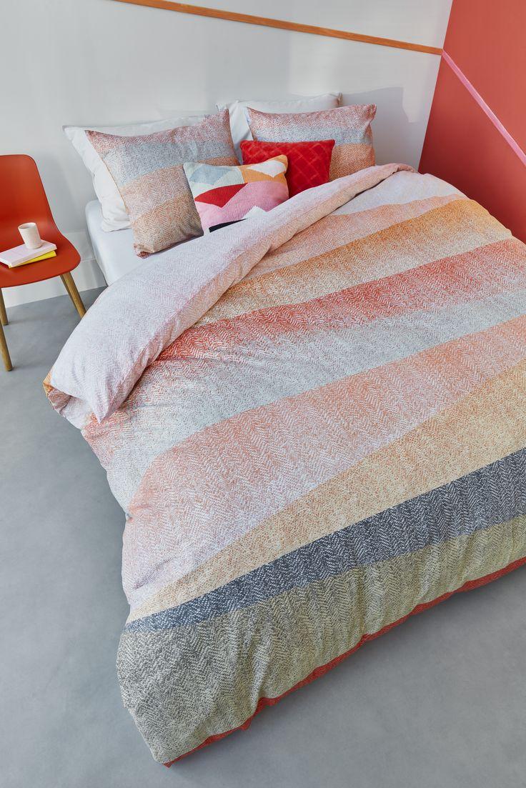 Collection Flag corail | coral - Housse de couette avec cache oreillers | Duvet cover with shams
