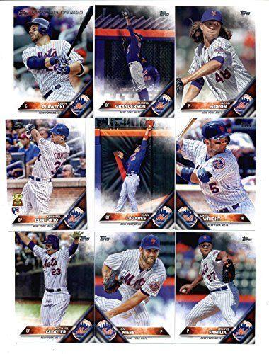 2016 Topps Baseball Series 1 New York Mets Team Set of 14 Cards: Travis d'Arnaud(#31), Noah Syndergaard(#43), Matt Harvey(#67), Wilmer…