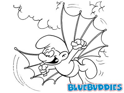 Black And White Smurf Pictures This Page Features Dreamy Flying Archer