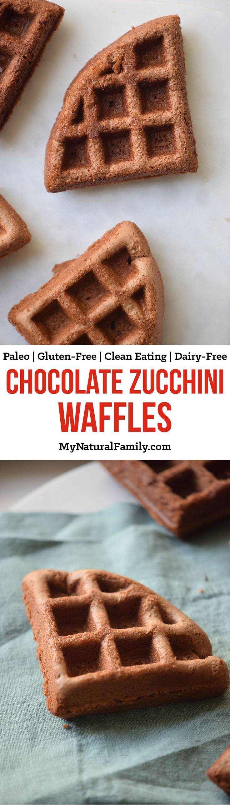 Chocolate Zucchini Paleo Waffles Recipe - these are so good, I would eat them even if I wasn't trying to eat Paleo.