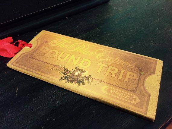Polar Express Golden Ticket Shiny Ticket Polar by BelleVieArtDecor
