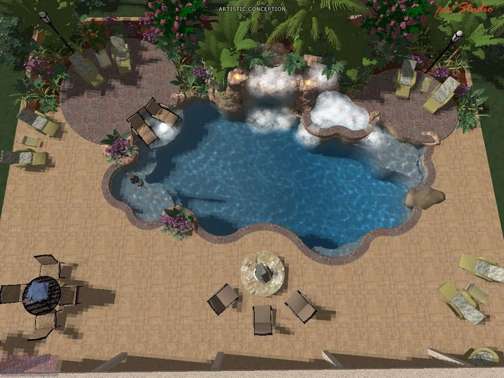 3d Pool Design Portfolio By Mrichterpoolpro 34 Design