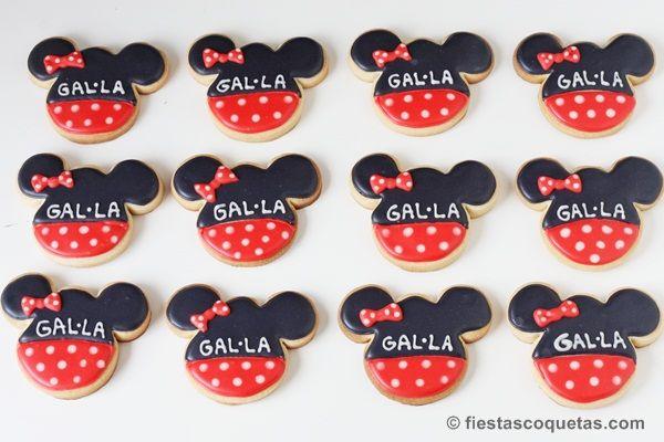 Galletas decoradas de la Minnie Mouse