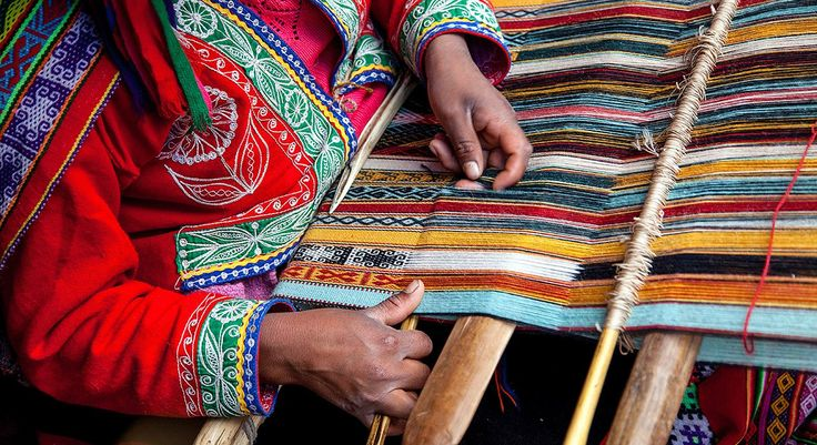 The Aymara women carefully weave the top-hat shaped occluder meant to close the hole in a patient's heart.