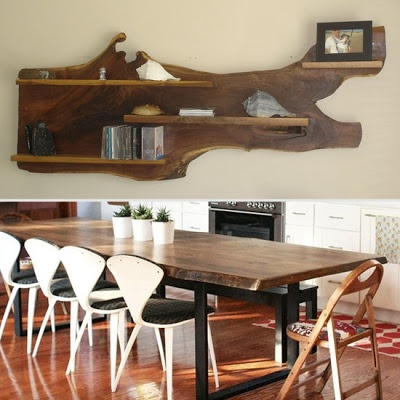 organic live edge wood for the kitchen pinterest woodworking wood shelves and wall shelves. Black Bedroom Furniture Sets. Home Design Ideas